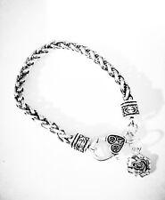 Rose Flower Love Gift For Her Christmas Gift Charm Bracelet