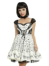 Discontinued, Hot Topic Nightmare Before Christmas Embroidery Dress