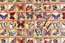 Deko Möbel Patchwork Stoffe Gobelin Vorhang Gardine Schmetterlinge 1203/055
