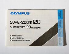 Instrucciones originales. - Cámara Olympus Superzoom 120
