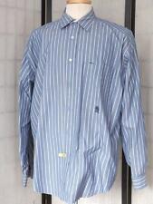 TOMMY HILFIGER MEN'S LONG SLEEVED RED/WHITE/BLUE 100% COTTON DRESS SHIRT SIZE L