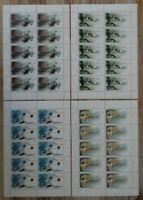 10 x Bund Nr. 2094 - 2097 KB sauber postrisch Kleinbogen Zehnerbogen Sporthilfe