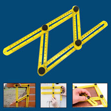 Folding Adjustable Four-Sided Ruler Hand Tool  Multi-Angle Scale Measuring HOT