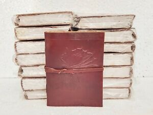 Leather Journal Diary Notebook Handmade Blank Travel Notepad Lot of 15