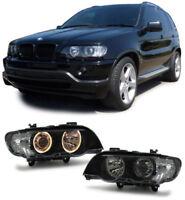 BMW X5 E53 ANGEL EYE D2S XENON H7 HEADLIGHTS HEADLAMPS 5/00-11/2003 PREFACELIFT