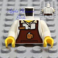 NEW Lego Barista MINIFIG TORSO Male/Female Boy/Girl White Shirt Coffee Cup Apron
