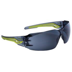 Bolle Silex Protective Sunglasses, Black/Green Frame/ Smoke Lens