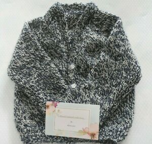 Baby's hand knitted cardigan 3-6 months