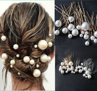 Elegant Women Bridal Bride Pearl Hair Clip Comb Wedding Party Hair Pin Headwear