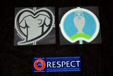 Official Euro 2020 Football Shirt Badge/patch Player issue + heart + respect