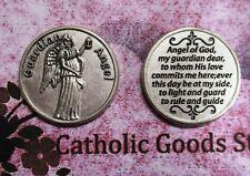 Guardian Angel Prayer - Silver tone  Pocket Coin