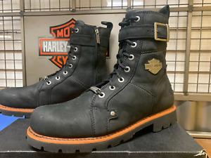 Harley Davidson Men Size 11 1/2 M Side Zip Motorcycles Boots Wickson D93489