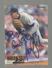Aaron Sele Signed Autograph 1996 Fleer Baseball Card - 100% Guaranteed