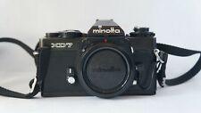 Minolta body XD7, No. 2108817. Black version.