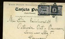 1912 PANAMA CANAL ZONE PC To GERMANY+CRISTOBAL HOSPITAL+c.1+2 -X292