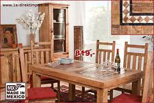 MEXICO Esstisch Tisch, Pinie massiv + Marmor Mosaik, neu, Massivholztisch, Möbel