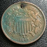 1865 Two Cent Piece 2c High Grade XF Details #27385