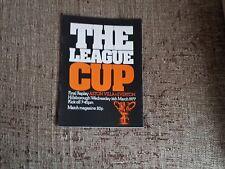 Aston Villa V Everton 1976-1977 League Cup Final Replay