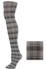 NEW*ladies plaid gray tights or pantyhose, free shipping