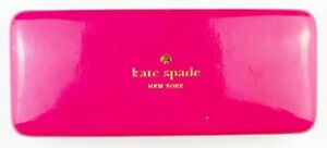 KATE SPADE New York Pink & Orange Eyeglasses Sunglasses Hard Case EYES inside