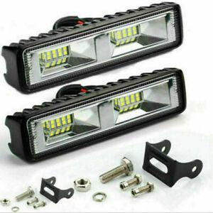 2X 12V 48W LED Work Light Bar Flood Spot Lights Driving Lamp Offroad Car SUV DRL