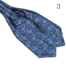 EP_ Men's Classic Silky Satin Wedding Banquet Necktie Cravat Ascot Tie Handsome