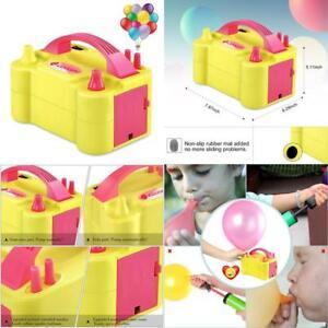 Idaodan Electric Balloon Pump, Portable Dual Nozzle Electric Balloon Inflator/Bl