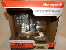 NIB Honeywell Satin Nickel Keypad Electronic Door Lever Entry Lock Model 8734301