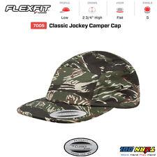 FLEXFIT 7005 Classic Jockey Camper BLANK Cap Black clip skateboarder hat