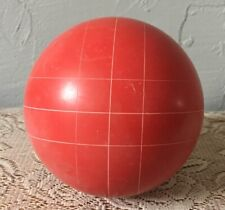 """Red 4"""" Bocce Ball 3 Pounds Replacement Square Pattern Vintage Coleman Franklin"""