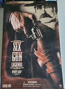 "Sideshow Six Gun Legends Wyatt Earp 12"" Figure Doll New in box nib wild west"
