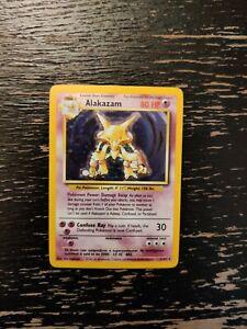 Alakazam Holo Card Pokemon Base Set 1/102