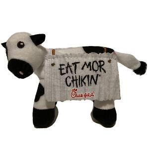 "Chick-Fil-A Plush Cow Eat More Chikin Chicken Standing Plush Stuffed Animal 4"""