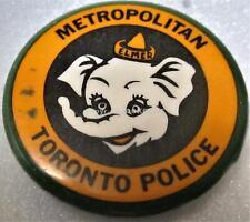 METROPOLITAN TORONTO POLICE SERVICE ONTARIO CANADA Button / Pin ELMER ELEPHANT