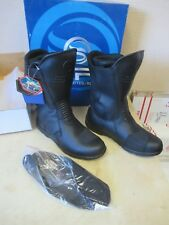 SP1 WATERPROOF LEATHER SPORT / TOURING BLACK MOTORCYCLE BOOTS - MEN SIZE 10