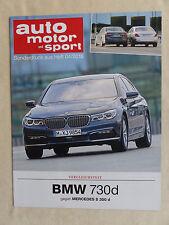 BMW 730d vs Mercedes S 350 d - Test - Sonderdruck Auto Motor & Sport Heft 4/2016