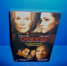Damages Season 2 DVD - Glenn Close, Rose Byrne, William Hurt NEW! (3-Disc Set)