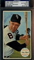 Pete Ward Signed Psa/dna 1964 Topps Giants Set Break Autograph Authentic