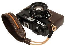Genuine leather half case & Wrist strap for minolta Hi-Matic 7sII / Dark Brown