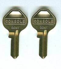 (2) GM GMC Chevy Tahoe Cadillac Escalade Console Keys Cut to Code Codes 001-175