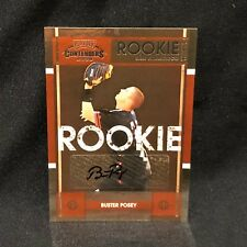 BUSTER POSEY GIANTS 2008 CONTENDERS #63 BUYBACK ROOKIE AUTO #d 4/4 - (BLACKBOX)