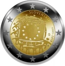 Slovakia 2015 - 2 Euro Comm - 30th Anniversary of the European Flag (UNC)