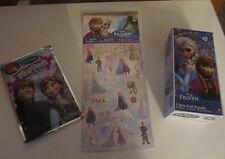 NEW! 3 pc Set: Disney Frozen Ultra Foil Puzzle, 25 Frozen Stickers & Play Pack