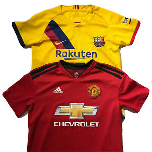 Nike Mens Soccer Jersey Shirts Yellow Adiddas Chevrolet Red Size Med Lot Of Two