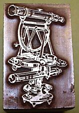 "SURVEYORS ""THEODOLITE"" PRINTING BLOCK."