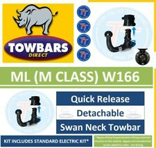 Detachable Towbar for Mercedes ML M Class W166 2102 to 2015 Swan Neck Tow-Trust