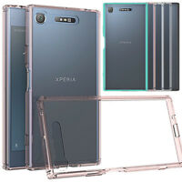 Slim Hybrid Clear TPU Shockproof Bumper Case Cover For Sony Xperia XZ1/Compact