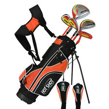 HOT SHOT Junior Golf Package inc Bag  Ages 8-12  Right Hand - ORANGE - RRP $299