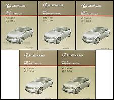 2007 Lexus GS 350 GS430 Repair Manual 5 Volume Set GS350 430 Shop Service OEM
