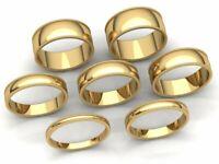 Domed Milgrain Band Ring Mens Womens 2mm 3mm 4mm 5mm 6mm 7mm 8mm Solid 14k Gold